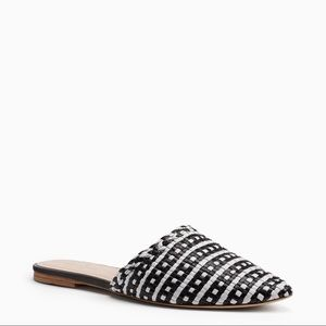 Kate Spade Mariel 9.5 black and white mules